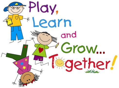 Image of the words Play, Learn and Grow Together! with 3 children