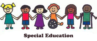 Clipart of differently abled children holding hands