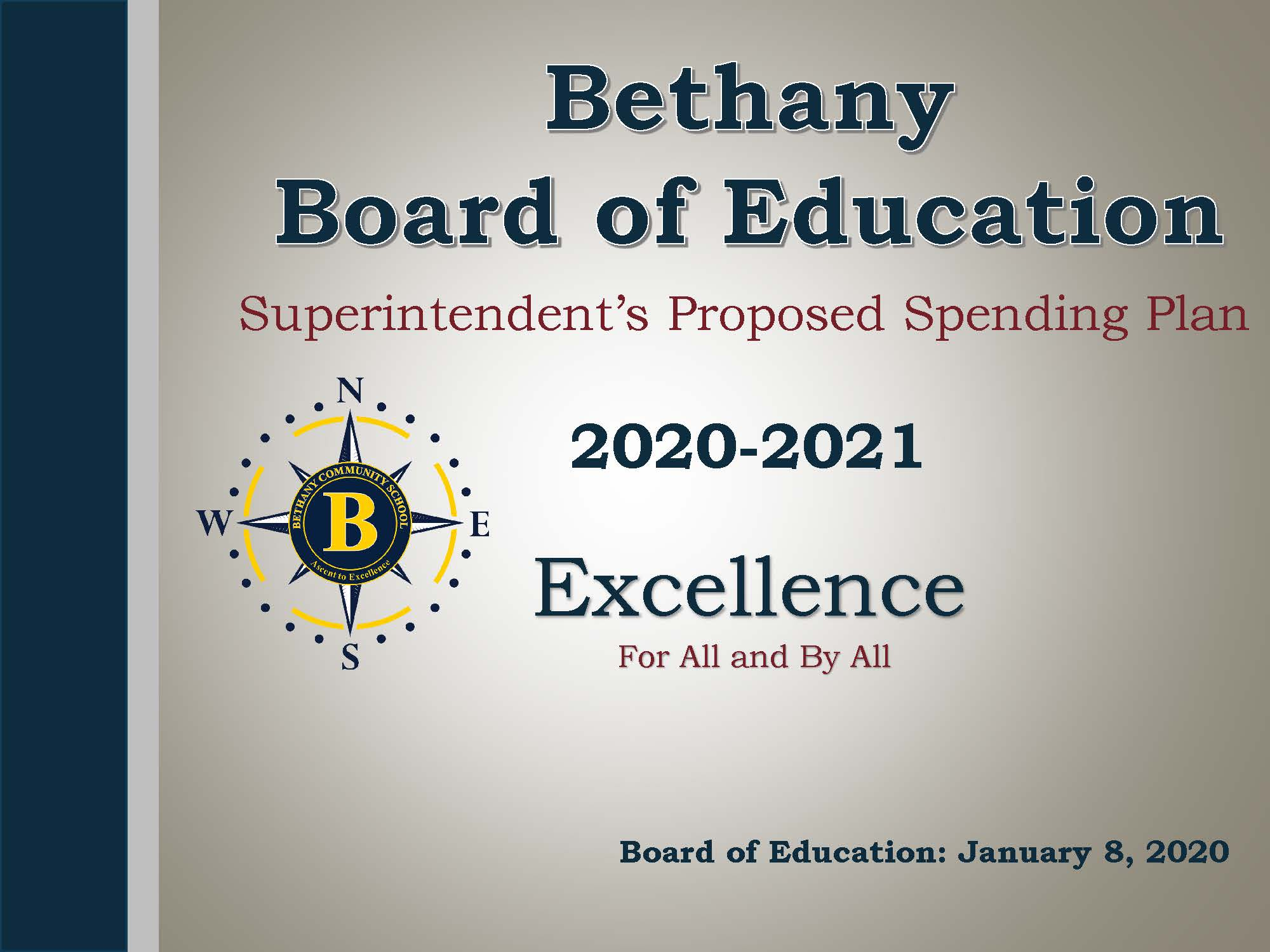 Image of the first slide of the Superintendent's Proposed Spending Plan